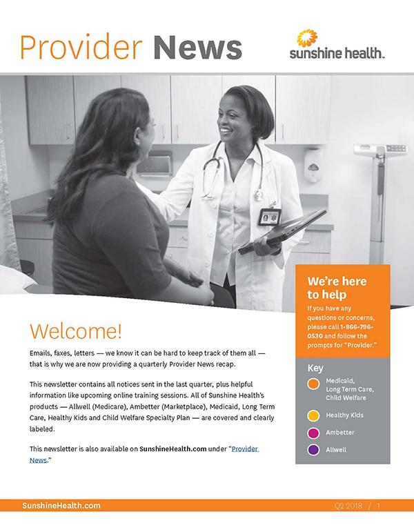 Sunshine Health Provider Portal Resources Sunshine Health