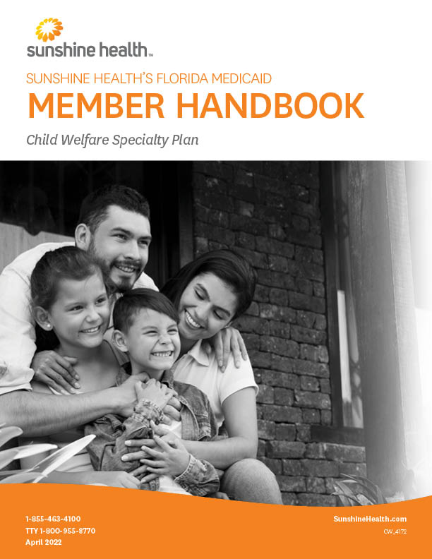 Child Welfare Member Handbook cover