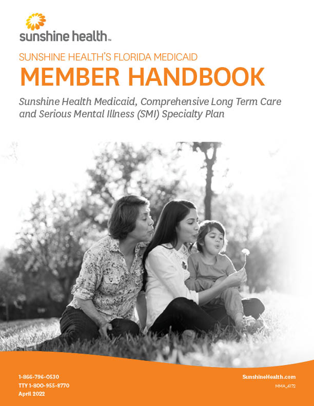 Cover of Sunshine Health Medicaid and Comprehensive Long-Term Care Member Handbook